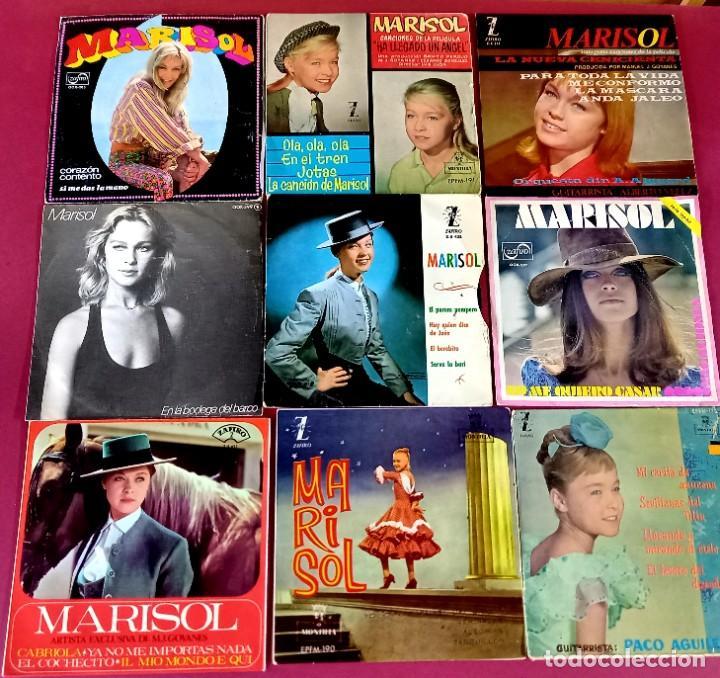 Discos de vinilo: LOTE DE 18 SINGLES DE MARISOL -VER FOTOS - Foto 3 - 271557288