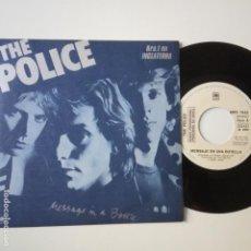 Discos de vinilo: THE POLICE- MESSAGE IN A BOTTLE - SPAIN PROMO SINGLE 1979- VINILO COMO NUEVO.. Lote 271558883