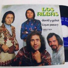 Discos de vinilo: LOS ALBAS-SINGLE DAVID Y GOLIAT. Lote 271562523
