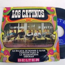 Discos de vinilo: LOS CATINOS-EP LA BALADA DE BONNIE Y CLYDE +3. Lote 271563743