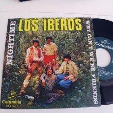Discos de vinilo: LOS IBEROS-SINGLE NIGHTIME-NUEVO. Lote 271569773