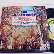 Discos de vinilo: LOS RELAMPAGOS-SINGLE EN ARANJUEZ CON TU AMOR. Lote 271577068