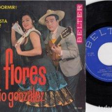 Discos de vinilo: LOLA FLORES Y ANTONIO GONZALEZ EL PESCAILLA - DONDE ESTA ES GATO - EP DE VINILO RUMBAS. Lote 271578673