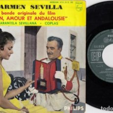Discos de vinilo: CARMEN SEVILLA - TARANTELA SEVILLANA - EP DE VINILO EDITADO EN FRANCIA. Lote 271579543