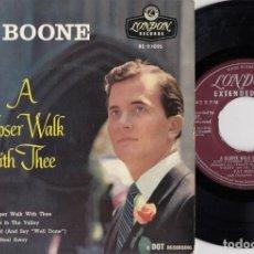 Discos de vinilo: PAT BOONE - A CLOSER WALK WITH THEE - EP DE VINILO EDITADO EN INGLATERRA. Lote 271580578