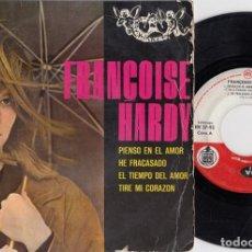 Discos de vinilo: FRANCOISE HARDY - PIENSO EN EL AMOR - EP DE VINILO EDITADO EN ESPAÑA. Lote 271580753