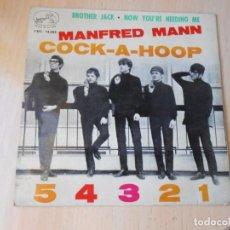 Discos de vinilo: MANFRED MANN, EP, COCK - A- HOOP + 3, AÑO 1964. Lote 271584643