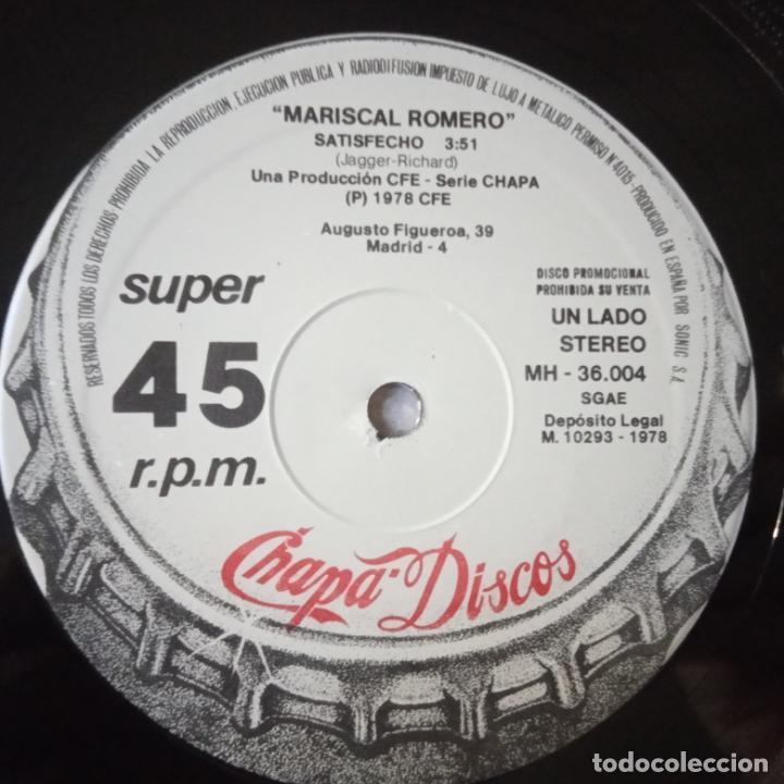 Discos de vinilo: MARISCAL ROMERO- STONMANIA- PROMO MAXI SINGLE 1978- THE ROLLING STONES- VINILO COMO NUEVO. - Foto 2 - 271585723