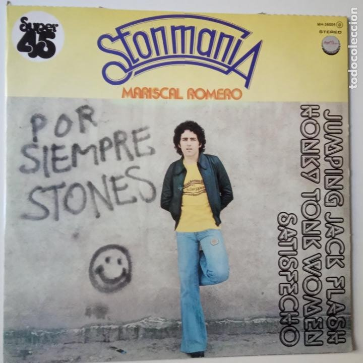 MARISCAL ROMERO- STONMANIA- PROMO MAXI SINGLE 1978- THE ROLLING STONES- VINILO COMO NUEVO. (Música - Discos de Vinilo - Maxi Singles - Solistas Españoles de los 70 a la actualidad)