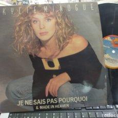 Discos de vinilo: KYLIE MINOGUE MAXI JE NE SAIS PAS POURQUOI ESPAÑA 1988. Lote 271592903
