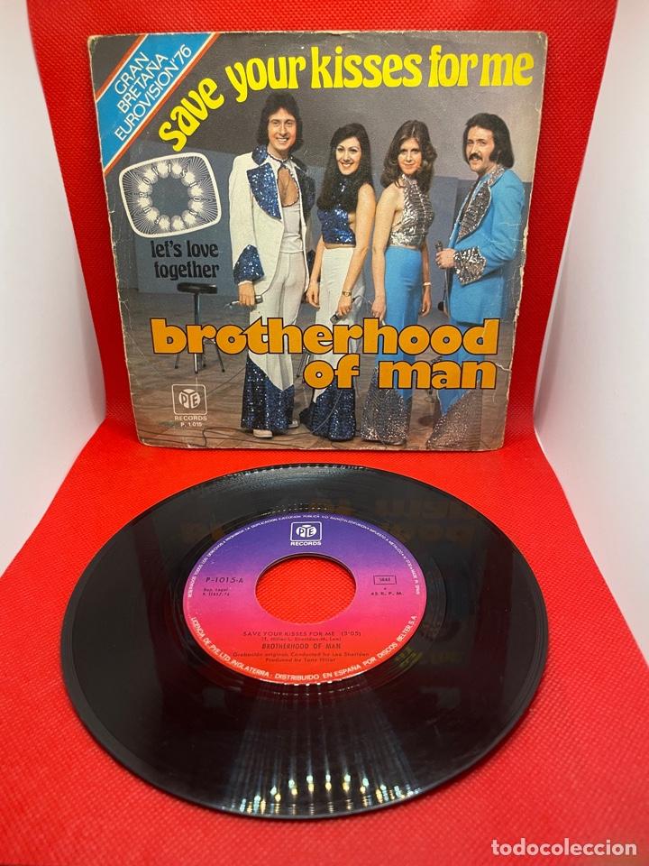 BROTHERHOOD OF MAN - SAVE YOUR KISSES FOR ME SINGLE 1976 EDICION ESPAÑOLA EUROVISION (Música - Discos - Singles Vinilo - Festival de Eurovisión)