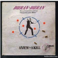 Disques de vinyle: DURAN DURAN - A VIEW TO A KILL (2 VERSIONES) - SINGLE 1985. Lote 271593963