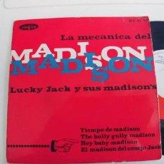 Discos de vinilo: LUCKY JACK Y SUS MADISON-EP TIEMPO DE MADISON +3. Lote 271595628