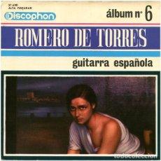 Discos de vinilo: MANUEL CUBEDO - ROMERO DE TORRES - GUITARRA ESPAÑOLA , ALBUM N° 6 - DISCOPHON 27.490 - 1966. Lote 271597428