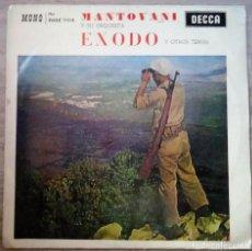 Discos de vinilo: MANTOVANI Y ORQUESTA - ÉXODO - EP DECCA 1961. Lote 271598748