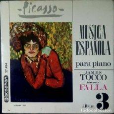 Discos de vinilo: JAMES TOCCO - JAMES TOCCO INTERPRETA FALLA - DISCOPHON 27494 - 1966. Lote 271600268