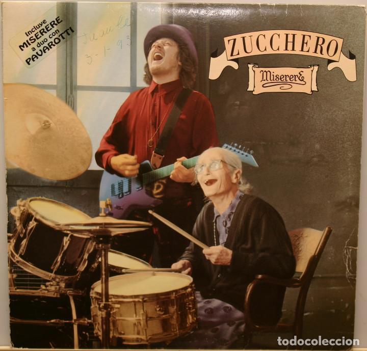 ZUCCHERO MISERERE- PAVAROTTI LP POLYGRAM 1992 (Música - Discos - LP Vinilo - Otros estilos)