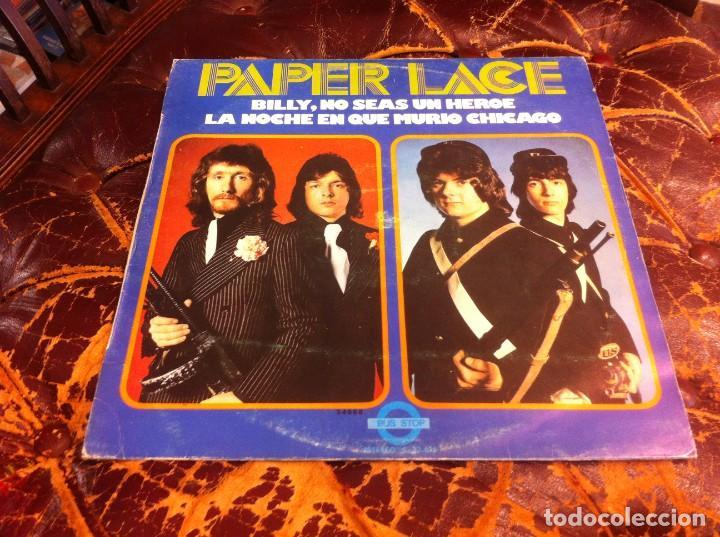 PAPER LACE. BILLY, NO SEAS UN HÉROE. LA NOCHE EN QUE MURIÓ CHICAGO..LP. 1974 (Música - Discos - LP Vinilo - Otros estilos)