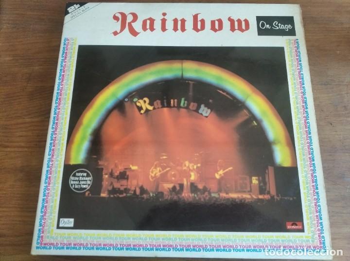 RAINBOW – ON STAGE ** RARO LP DOBLE ESPAÑOL 1977 BUEN ESTADO (Música - Discos - LP Vinilo - Heavy - Metal)