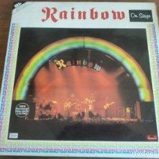 Discos de vinilo: RAINBOW – ON STAGE ** RARO LP DOBLE ESPAÑOL 1977 GRAN ESTADO ****. Lote 271623858