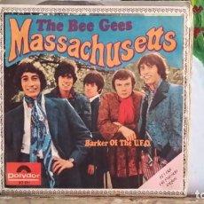 Discos de vinilo: ** THE BEE GEES - MASSACHUSETTS / BARKER OF THE U.F.O. - SG AÑO 1967 - LEER DESCRIPCIÓN. Lote 271623913