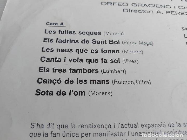 Discos de vinilo: ORFEÓ GRACIENC I COBLA LAIETANA / SARDANES PER A COR I COBLA / LP-VERGARA-1968 / MBC. ***/*** - Foto 3 - 271625553