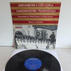 Discos de vinilo: ORFEÓ GRACIENC I COBLA LAIETANA / SARDANES PER A COR I COBLA / LP-VERGARA-1968 / MBC. ***/***. Lote 271625553