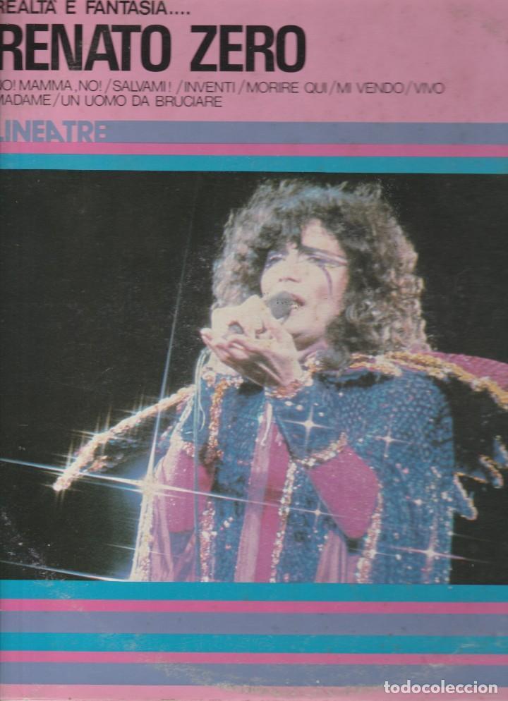 LP RENATO ZERO REALTA' & FANTASIA RING WEAR RCA LINEA TRE ITALY COVER SCRITTE (Música - Discos - LP Vinilo - Canción Francesa e Italiana)