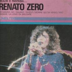 Discos de vinilo: LP RENATO ZERO REALTA' & FANTASIA RING WEAR RCA LINEA TRE ITALY COVER SCRITTE. Lote 271625713