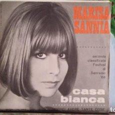 Discos de vinilo: ** MARISA SANNIA - CASA BIANCA - MADE IN ITALY - SG AÑO 1968 (FESTIVAL DI SANREMO) LEER DESCRIPCION. Lote 271625848