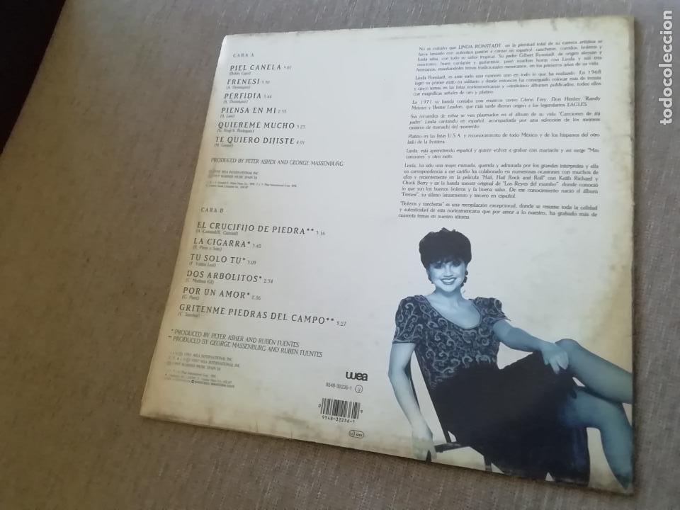 Discos de vinilo: Linda ronstadt-boleros y rancheras. Lp - Foto 2 - 271625858