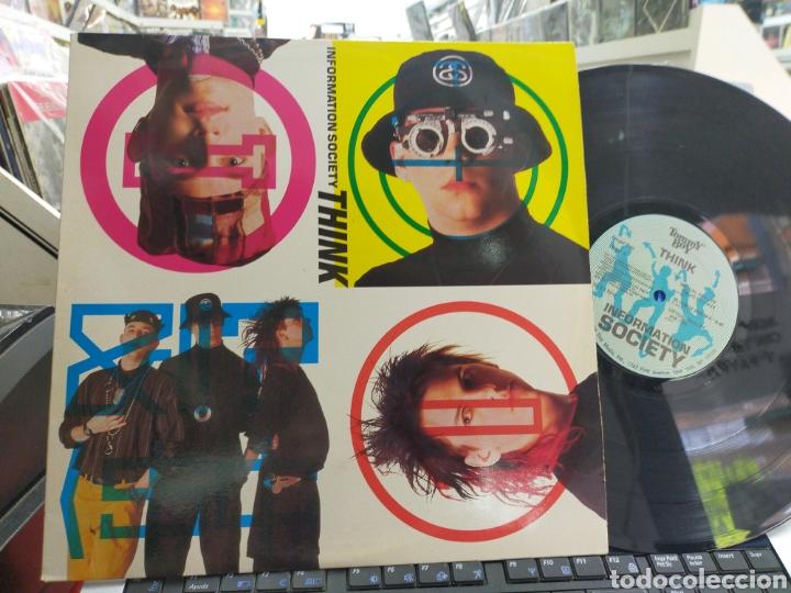 INFORMATION SOCIETY MAXI THINK U S.A. 1990 (Música - Discos de Vinilo - Maxi Singles - Pop - Rock - New Wave Internacional de los 80)