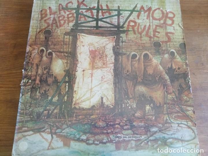 BLACK SABBATH – MOB RULES ** RARO LP UK 1981 GRAN ESTADO **** HARD ROCK (Música - Discos - LP Vinilo - Heavy - Metal)