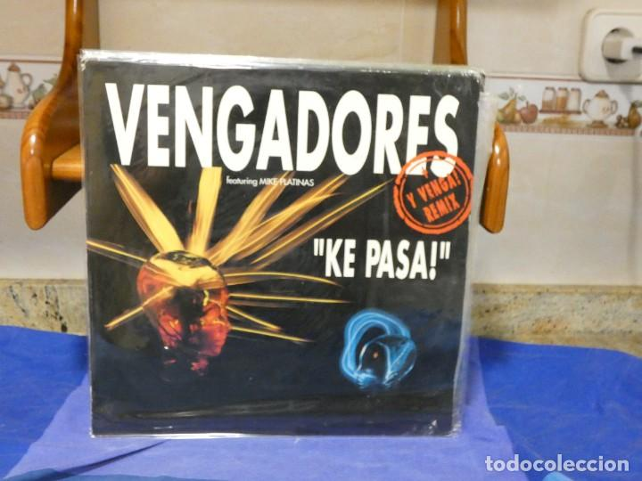 MAXISINGLE LOS VENGADORES KE PASA! FEAT MIKE PLATINAS VINILO BUEN ESTADO 1992 (Música - Discos - LP Vinilo - Jazz, Jazz-Rock, Blues y R&B)