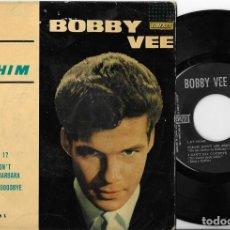 Disques de vinyle: BOBBY VEE EP RUN TO HIM LIBERTY 1962 ROCK. Lote 271671798