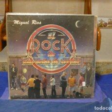 Discos de vinilo: MAXISINGLE MIGUEL RIOS EL ROCK DE UNA NOCHE DE VERANO TAPA MUY BIEN ALGUNA MARQUITA MUY MENOR 36. Lote 271683628