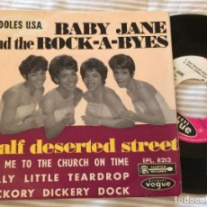Discos de vinil: EP BABY JANE & THE ROCK-A-BYES - HALF DESERTED STREET (VOGUE, 1964) DOO-WOP, SOUL. Lote 271689413