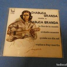Discos de vinilo: BONITO EP CRIOLLO CHABUCA GRANDA CANTA A CHABUCA GRANDA BUEN ESTADO. Lote 271696593
