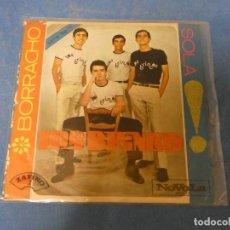 Discos de vinilo: SINGLE LOS BRINCOS SOLA BORRRACHO BUEN ESTADO 1965. Lote 271696703