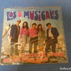 Discos de vinilo: SINGLE MUY BONITO LOS CINCO MUSICALES CASTASHO Y VODKA PROMOCIONAL PALOBAL BUEN ESTADO. Lote 271698178