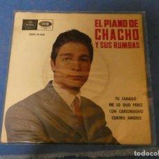 Discos de vinilo: EP EL PIANO DE CHACHO Y SUS RUMBAS CORRECTO 1968 TU CABALLO + 3. Lote 271698393