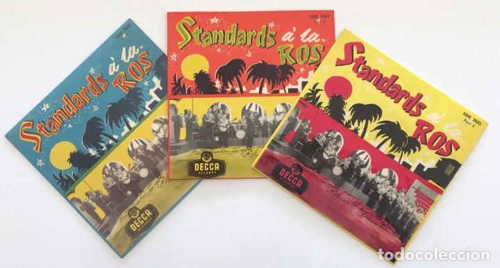 EDMUNDO ROS & HIS ORCHESTRA – STANDARDS Á LA ROS (PARTS 1-2-3) 3 EPS SWEDEN,1956 DECCA (Música - Discos de Vinilo - EPs - Grupos y Solistas de latinoamérica)
