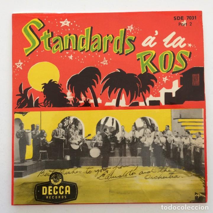 Discos de vinilo: Edmundo Ros & His Orchestra – Standards á la Ros (Parts 1-2-3) 3 eps Sweden,1956 DECCA - Foto 3 - 271698938