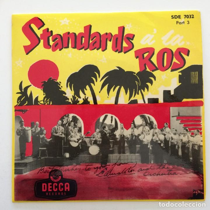Discos de vinilo: Edmundo Ros & His Orchestra – Standards á la Ros (Parts 1-2-3) 3 eps Sweden,1956 DECCA - Foto 4 - 271698938
