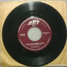 Discos de vinilo: THE FOUR BITS. DON'T CALL ME/ TROUBLE ON THE CABLE TO-NIGHT. ART, USA 1956 SINGLE (BLUES/ R'N'B). Lote 271699933