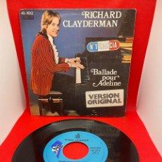 Discos de vinilo: RICHARD CLAYDERMAN - BALLADE POUR ADELINE - DECCA - 1977. Lote 271708333