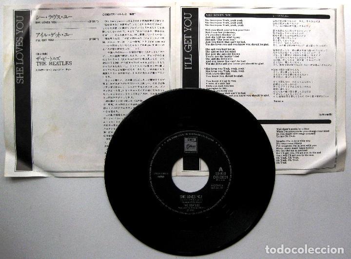 Discos de vinilo: The Beatles - She Loves You - Single Emi Odeon 1977 Japan (Edición Japonesa) BPY - Foto 3 - 271877968
