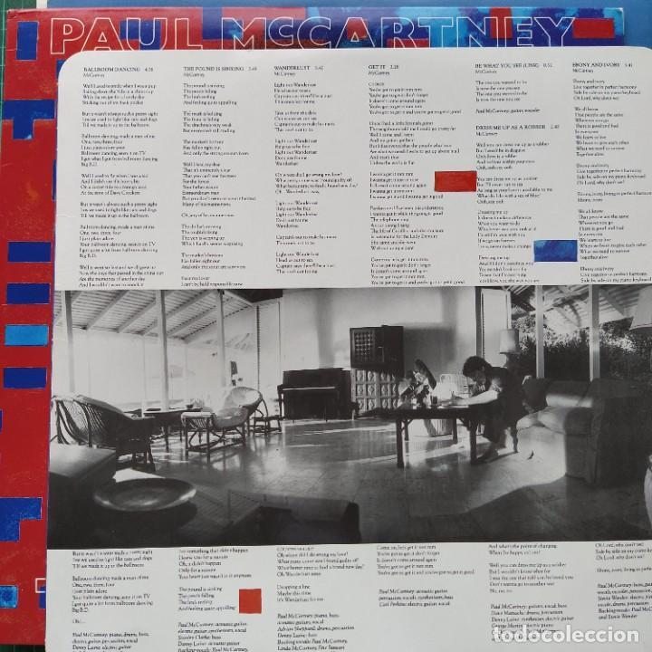 Discos de vinilo: Paul McCartney - Tug Of War (LP, Album) (1982/UK) (Primera Ed) - Foto 3 - 271894633