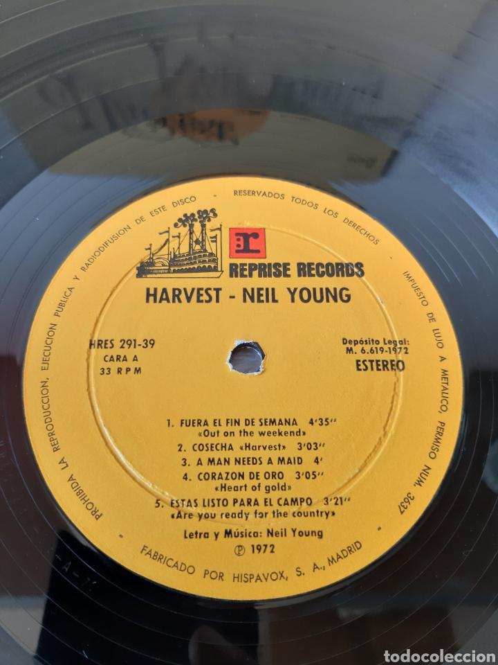 Discos de vinilo: NEIL YOUNG. HARVEST. REPRISE. 1972. SPAIN. HRES 291-39. - Foto 6 - 271955418