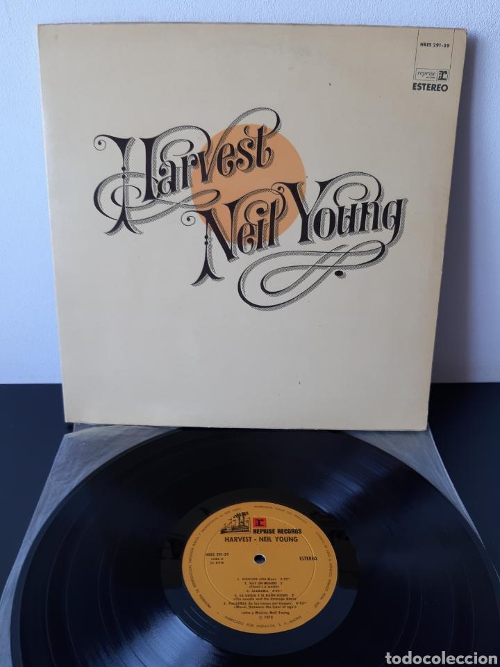 NEIL YOUNG. HARVEST. REPRISE. 1972. SPAIN. HRES 291-39. (Música - Discos - LP Vinilo - Pop - Rock - Internacional de los 70)